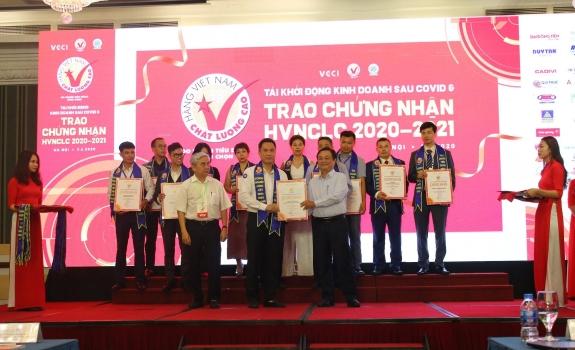 Hồng Hà tiếp tục đạt danh hiệu Hàng Việt Nam chất lượng cao năm 2020