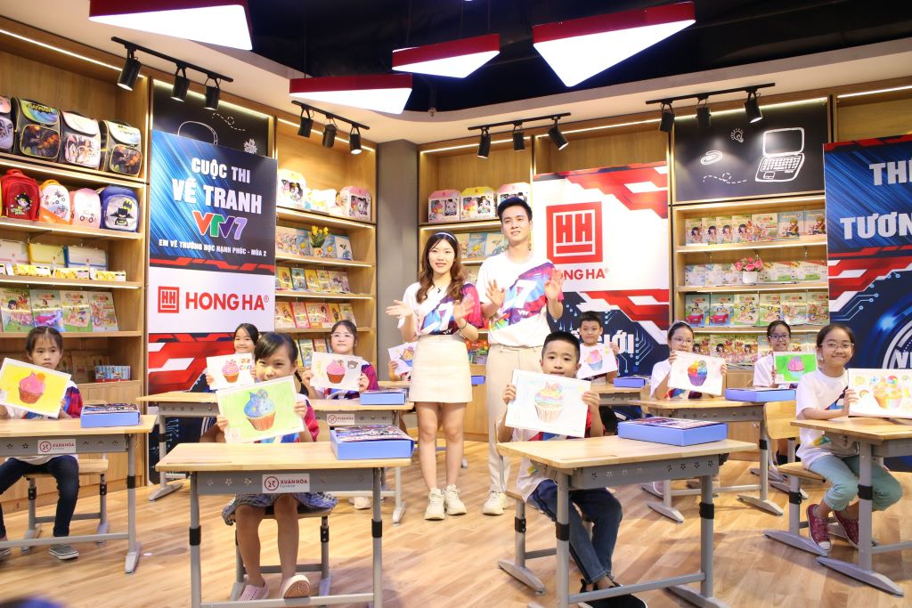 """Văn phòng phẩm Hồng Hà đồng hành cùng  cuộc thi """"Em vẽ trường học hạnh phúc"""" mùa thứ 2"""